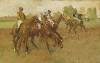 Before the Race 1882 88 | Edgar Degas | oil painting