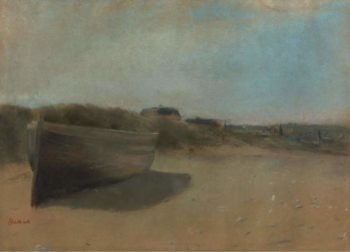 Boat on the Sand 1869 | Edgar Degas | oil painting