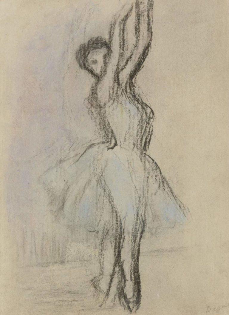 Dancer on the Points | Edgar Degas | oil painting