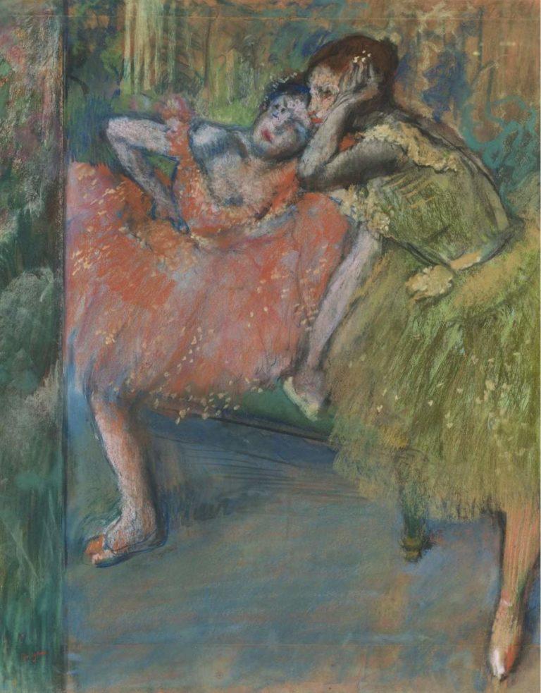 Dancers at Green Room 1901 | Edgar Degas | oil painting
