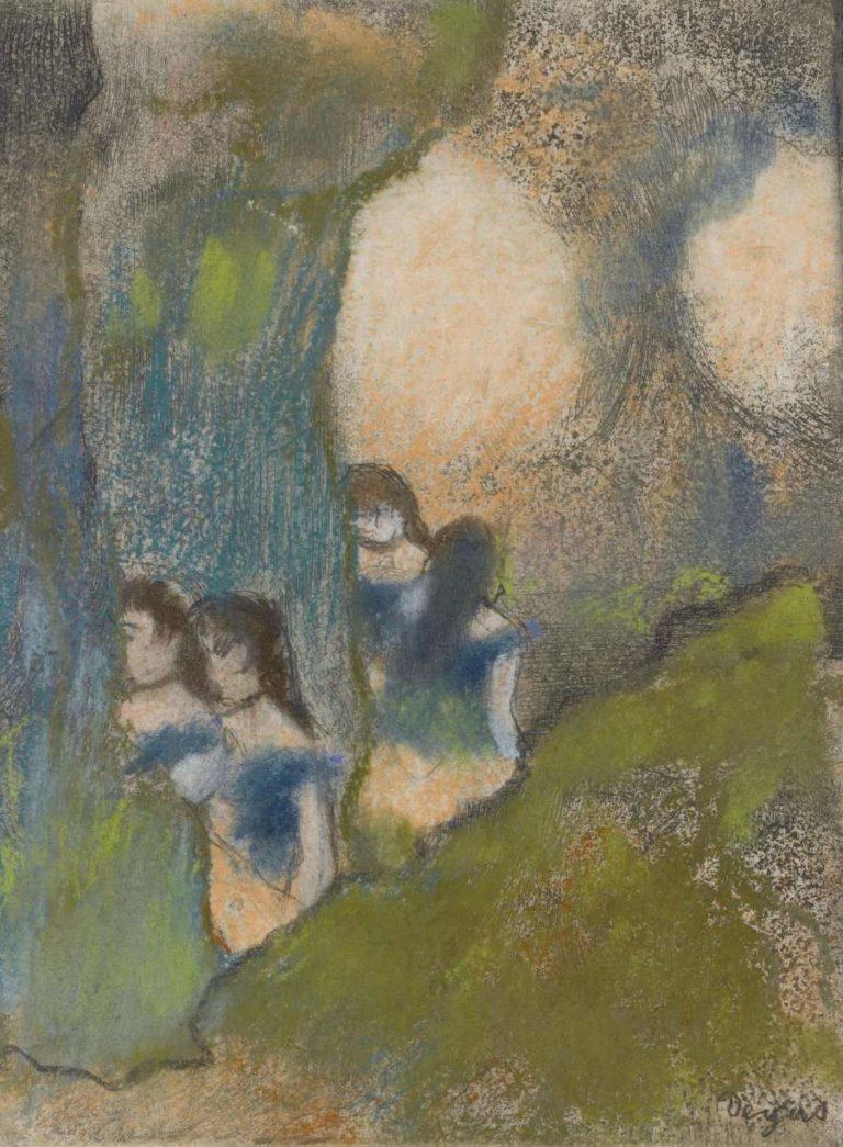 Dancers behind the Scenes | Edgar Degas | oil painting