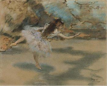 Dancer Standing on Points 1877 | Edgar Degas | oil painting