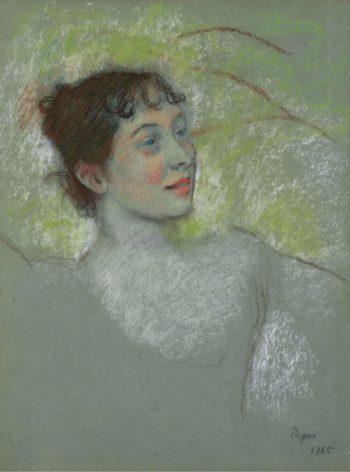 Mademoiselle Sallandry 1885 | Edgar Degas | oil painting