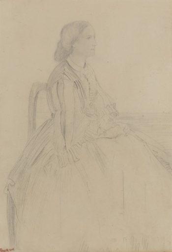 Seated Woman | Edgar Degas | oil painting