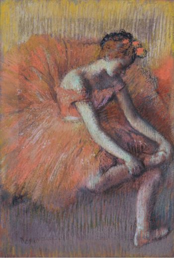 The Dancer Taking off the Sandale 1896 | Edgar Degas | oil painting