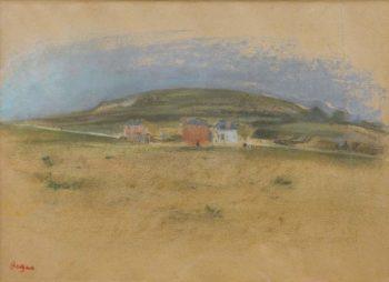 The Houses near the Cliffs 1869 | Edgar Degas | oil painting