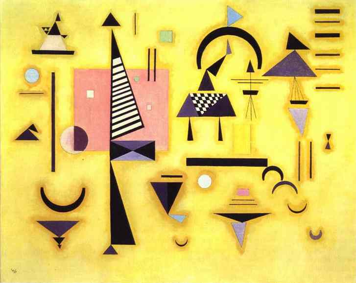 decisive pink 1932 | Wassily Kandinsky | oil painting