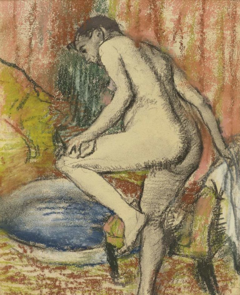 Woman after Bathing 1883 | Edgar Degas | oil painting