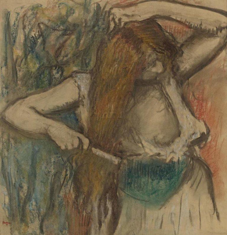 Woman Arranging Her Hair 1894 | Edgar Degas | oil painting
