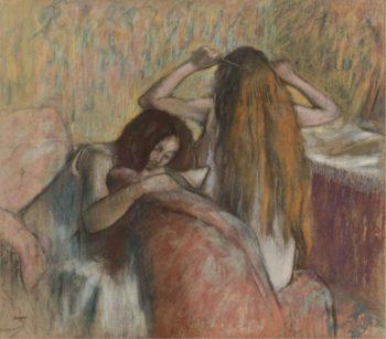 Woman Combing Her Hair 1892 95 | Edgar Degas | oil painting