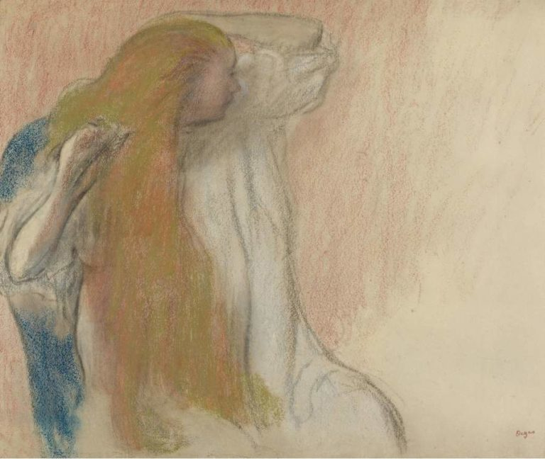 Woman Combing Her Hair 1894 | Edgar Degas | oil painting