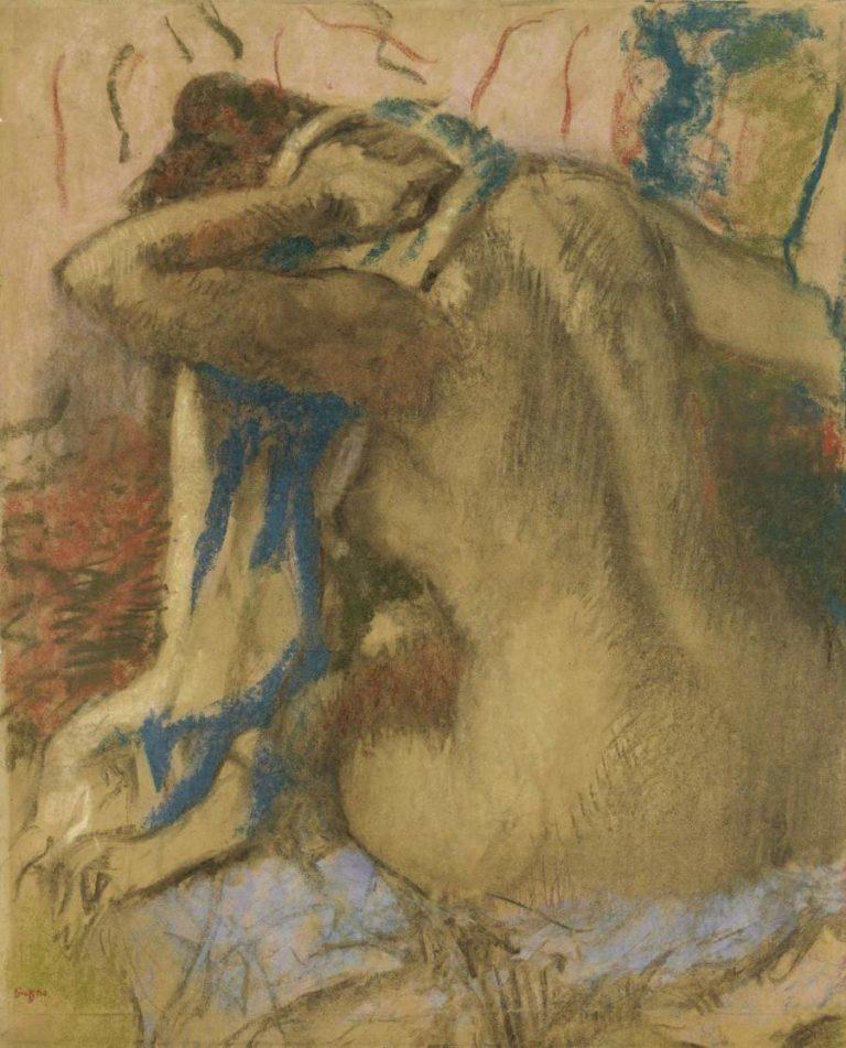 Woman Drying Her Hair 1885 | Edgar Degas | oil painting