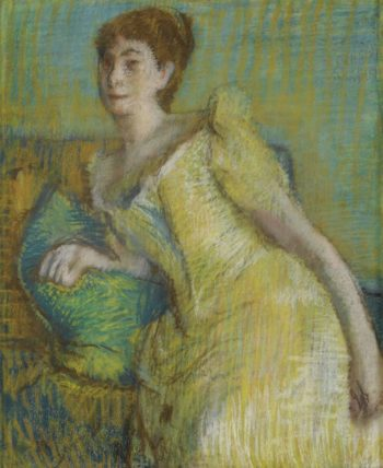 Woman in Yellow | Edgar Degas | oil painting