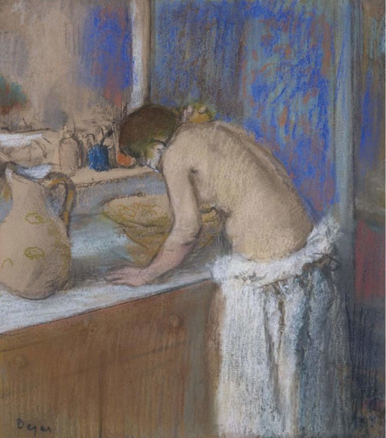Young Woman by the Toilette 1895 | Edgar Degas | oil painting