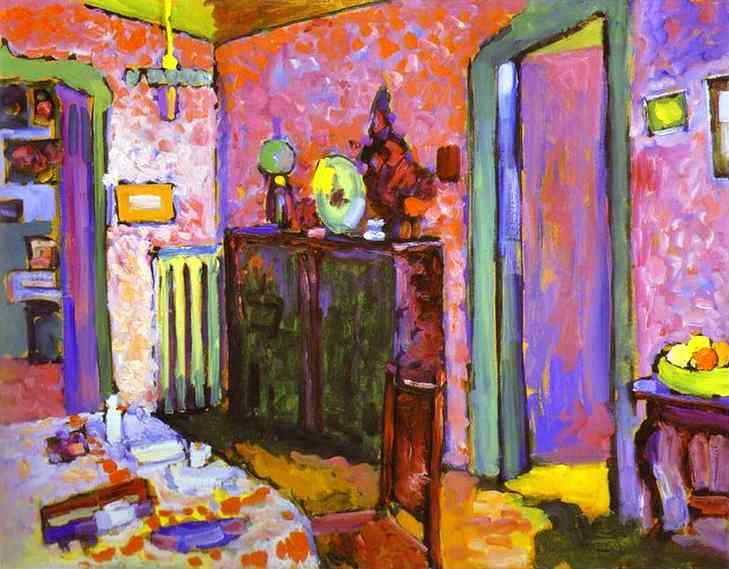 interior (my dining room) 1909 | Wassily Kandinsky | oil painting
