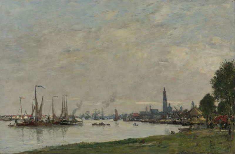 Anvers the Port View to the North Citadel 1971 | Eugene Boudin | oil painting