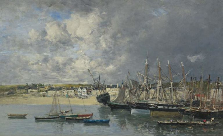 Boats at the Port of Ancre 1873 | Eugene Boudin | oil painting