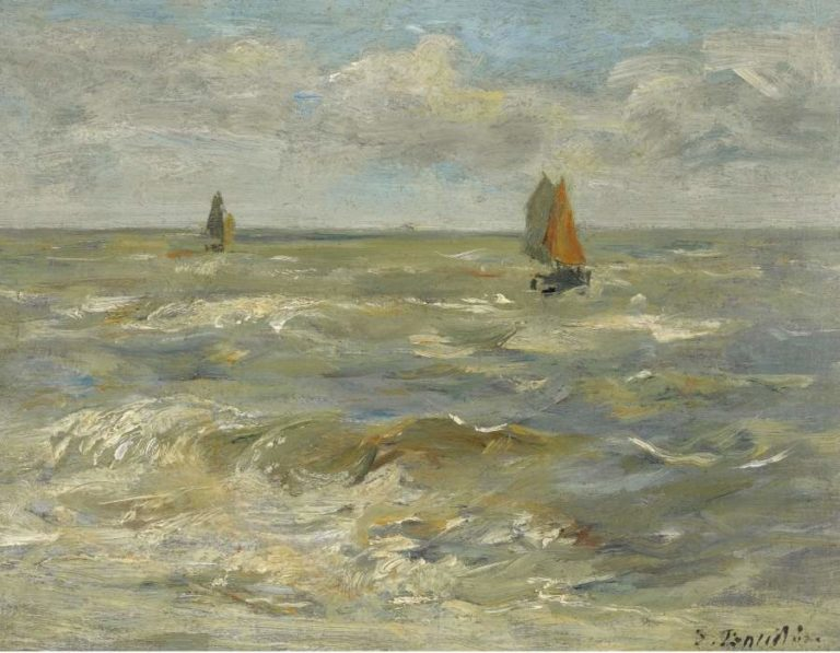 Boats in the Sea 1888 95 | Eugene Boudin | oil painting
