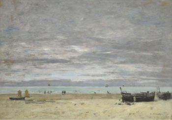 Boats on the Beach 1882 | Eugene Boudin | oil painting