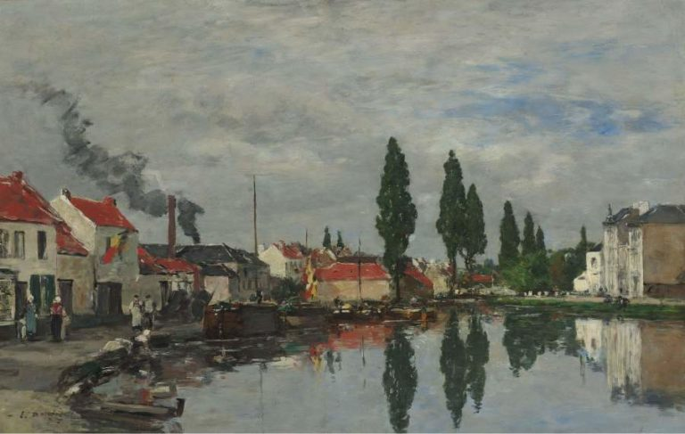 Bruxelles the Channel of Louvain 1871 | Eugene Boudin | oil painting