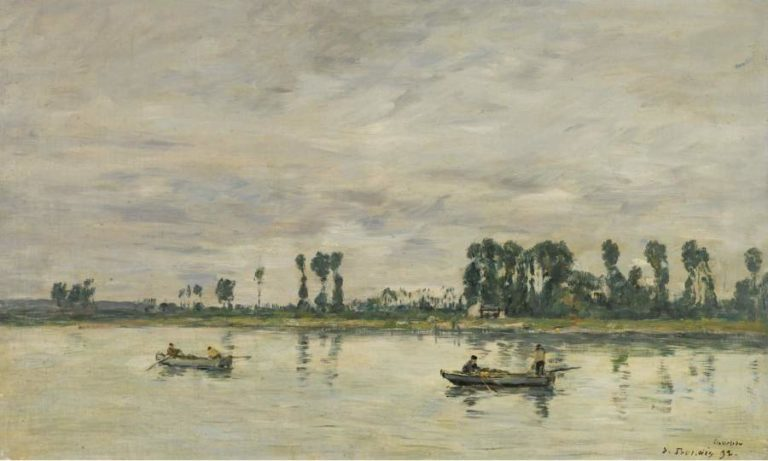 Caudebec en Caux the Banks of the Seine 1892 | Eugene Boudin | oil painting