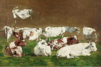 Cows (study) | Eugene Boudin | oil painting