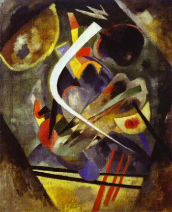 white stroke 1920 | Wassily Kandinsky | oil painting