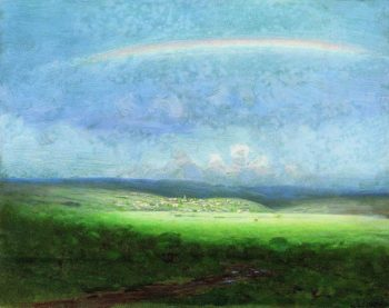 After a Rain - Rainbow | Arkhip Kuinji | oil painting