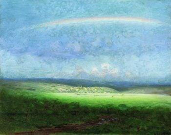 After a Rain - Rainbow | Arkhip Kuinji | oil painting