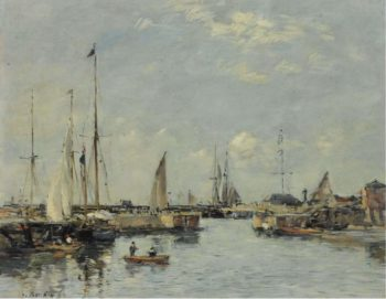 Shipping Lock at Trouville 1894 | Eugene Boudin | oil painting