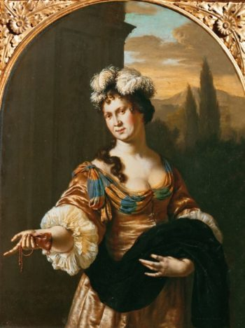 A Lady -Allegory of Pride | Willem van Mieris | oil painting