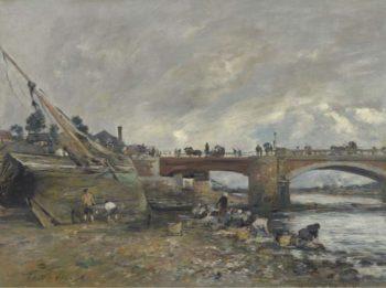 The Laundresses near the Bridge 1878 | Eugene Boudin | oil painting