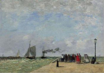 The Pier in Havre 1868 | Eugene Boudin | oil painting