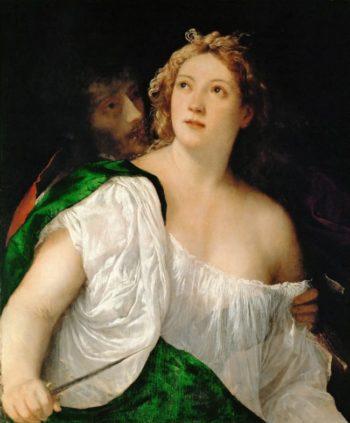 Suicide of Lucretia 1515 | Titian | oil painting