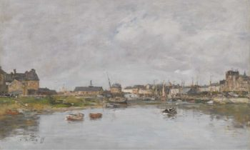 The Port of Trouville 1880 | Eugene Boudin | oil painting
