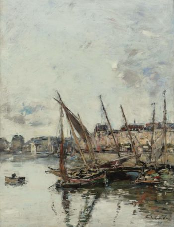 The Port of Trouvill Marine Basin 1894 | Eugene Boudin | oil painting