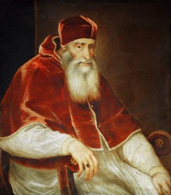 Pope Paul III Farnese | Titian | oil painting