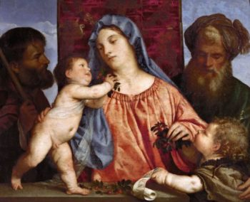Madonna of the Cherries | Titian | oil painting