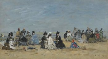 Trouville Scene on the Beach 1874 | Eugene Boudin | oil painting