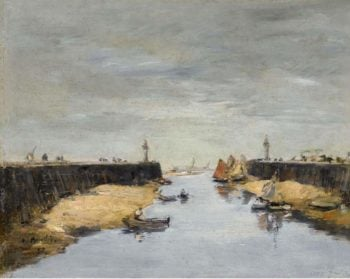 Trouville the Jetties 1882 | Eugene Boudin | oil painting