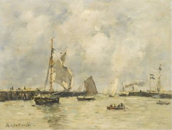 Trouville the Jetties 1894 | Eugene Boudin | oil painting