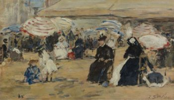 Trouville the Nanny 1885 | Eugene Boudin | oil painting