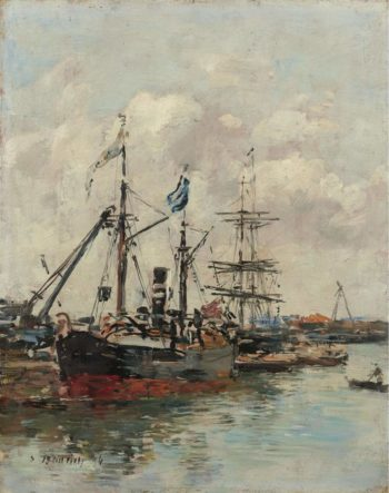 Trouville the Port 1894 | Eugene Boudin | oil painting