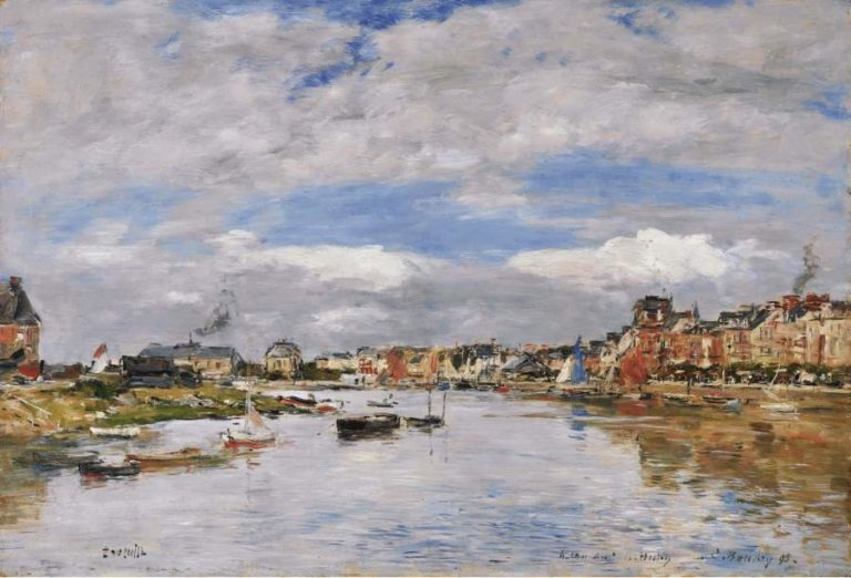 Trouville the Port 1895 | Eugene Boudin | oil painting