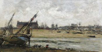 Trouville View of the Port 1870 73 | Eugene Boudin | oil painting