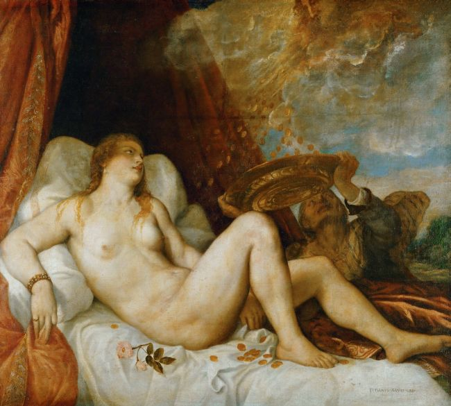 Danae mother of Perseus | Titian | oil painting