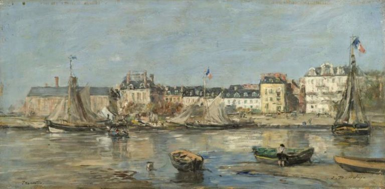 Trouvillle the Port 1880 85 | Eugene Boudin | oil painting