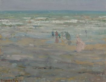 Beach in Corsica 1913 | Frederick Carl Frieseke | oil painting
