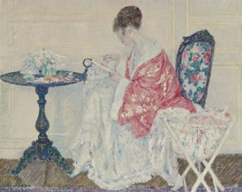 Girl Embroidering 1914 | Frederick Carl Frieseke | oil painting