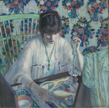 La Poudreuse | Frederick Carl Frieseke | oil painting